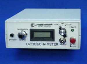 Portable O2, CO2, CH4 Gas Meter